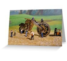 Diorama17 : Watch Parts Motorcycles Greeting Card