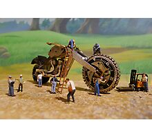 Diorama17 : Watch Parts Motorcycles Photographic Print