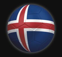 Iceland - Icelandic Flag - Football or Soccer 2 by graphix