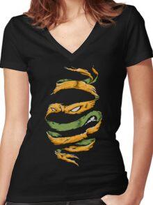 Orange Rind Women's Fitted V-Neck T-Shirt