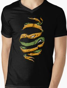 Orange Rind Mens V-Neck T-Shirt