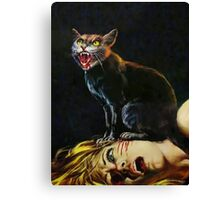 Black Cat - Killing of a Witch Canvas Print