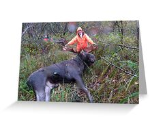 A Successful Hunt Greeting Card