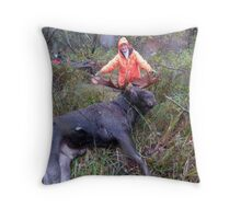 A Successful Hunt Throw Pillow