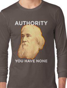 Lysander Spooner No Authority Long Sleeve T-Shirt