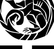 Monkey System - Lake Trigram - YSBKnox (Black) Sticker