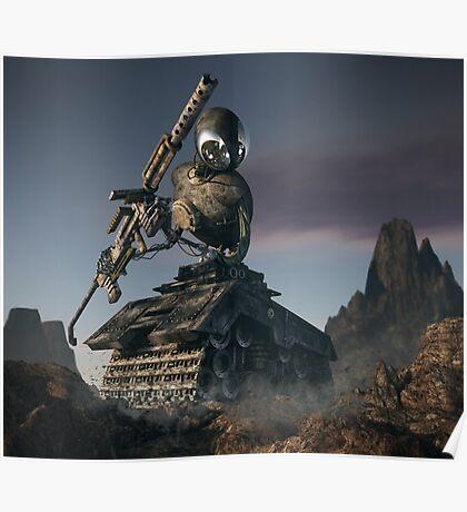 War Tank Robot Poster