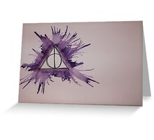 Deathly Hallows Watercolor Greeting Card
