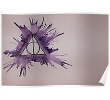 Deathly Hallows Watercolor Poster