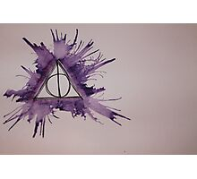 Deathly Hallows Watercolor Photographic Print