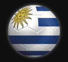 Uruguay - Uruguayan Flag - Football or Soccer 2 by graphix