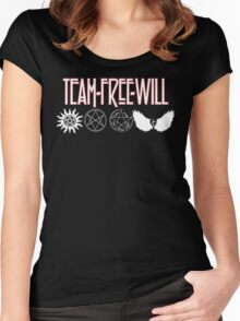 Team Free Will V2 Women's Fitted Scoop T-Shirt