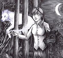 Andry and Sirius - black and white by Furiarossa