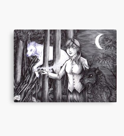 Andry and Sirius - black and white Canvas Print