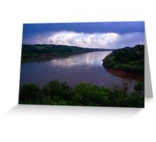 Iguazu River Greeting Card