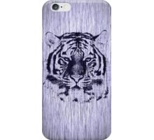 Tiger on Wood Grain iPhone Case/Skin