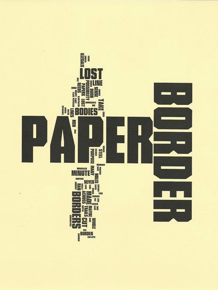 Paper Border  by Israel Francisco  Haros Lopez