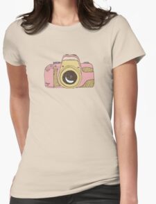 DSLR Camera Pink Doodle Illustration Drawing Tshirt Sticker T-Shirt