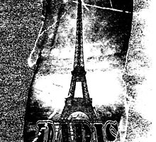 Vintage Paris Eiffel Tower  by Nhan Ngo