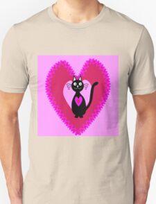Cat in love Unisex T-Shirt