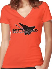 Battlefield Death from Above Women's Fitted V-Neck T-Shirt