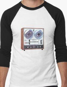 Vintage Analog tapedeck player Men's Baseball ¾ T-Shirt