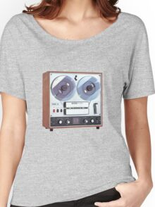 Vintage Analog tapedeck player Women's Relaxed Fit T-Shirt