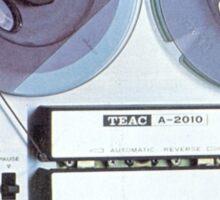 Vintage Analog tapedeck player Sticker