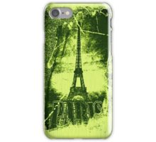 Vintage Green Paris Eiffel Tower  iPhone Case/Skin