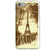 Vintage Paris Eiffel Tower 2 iPhone Case/Skin