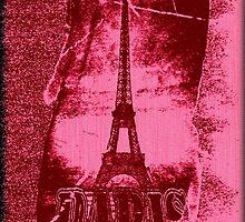 Vintage Paris Eiffel Tower 3 by Nhan Ngo