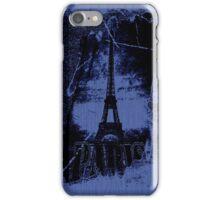 Vintage Blue Paris Eiffel Tower  iPhone Case/Skin