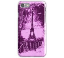 Vintage Purple Paris Eiffel Tower  iPhone Case/Skin
