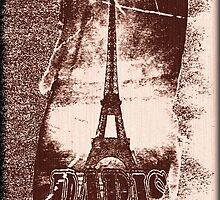 Vintage Paris Eiffel Tower 4 by Nhan Ngo