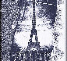 Vintage Paris Eiffel Tower 5 by Nhan Ngo