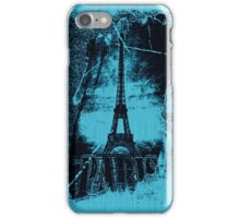 Vintage Blue Paris Eiffel Tower 2 iPhone Case/Skin