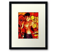 Twink Tagger Caught Framed Print