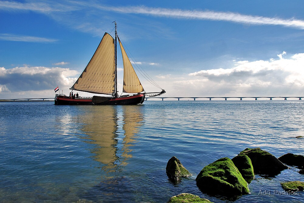 """The """"Scaldis"""" leaves the port of Zierikzee by Adri  Padmos"""