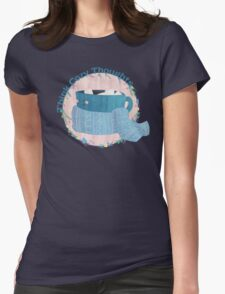 Cozy Thoughts Womens Fitted T-Shirt