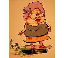 Skater Granny Photographic Print