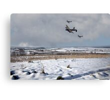 Battle of Britain Snow Scene Canvas Print
