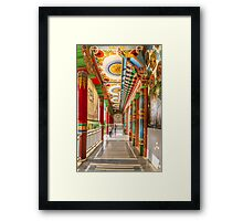 Temple at Lumbini, Nepal Framed Print