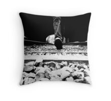 Walk the lines Throw Pillow