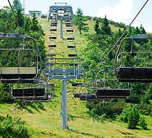 Ski Lift on Monte Zoncolan in Summer 4 by jojobob