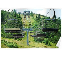 Ski Lift on Monte Zoncolan in Summer 4 Poster