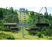 Ski Lift on Monte Zoncolan in Summer 4 Photographic Print