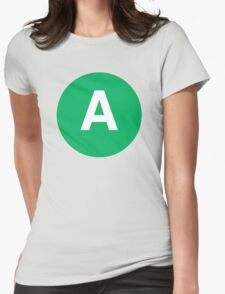 Letter A Womens Fitted T-Shirt