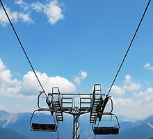 Ski Lift on Monte Zoncolan in Summer 5 by jojobob