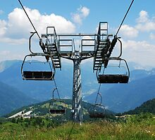 Ski Lift on Monte Zoncolan in Summer 6 by jojobob