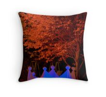 Ghosts Halloween Greeting Card Throw Pillow